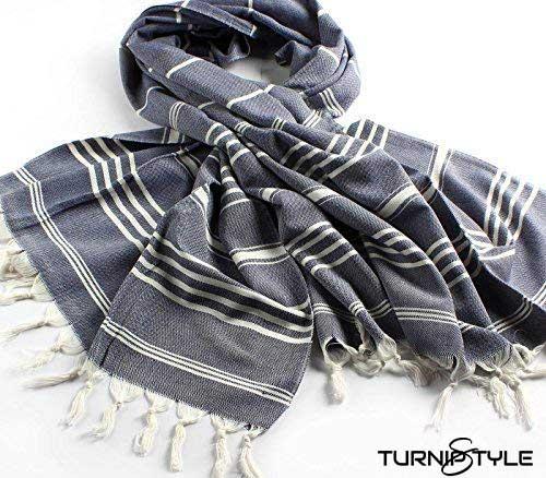 CACALA Sultan Series Turkish Bath Towels – Traditional Peshtemal Design for Bathrooms, Beach, Sauna – 100% Natural Cotton, Ultra-Soft, Fast-Drying