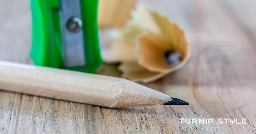 pencil sharpener on desk