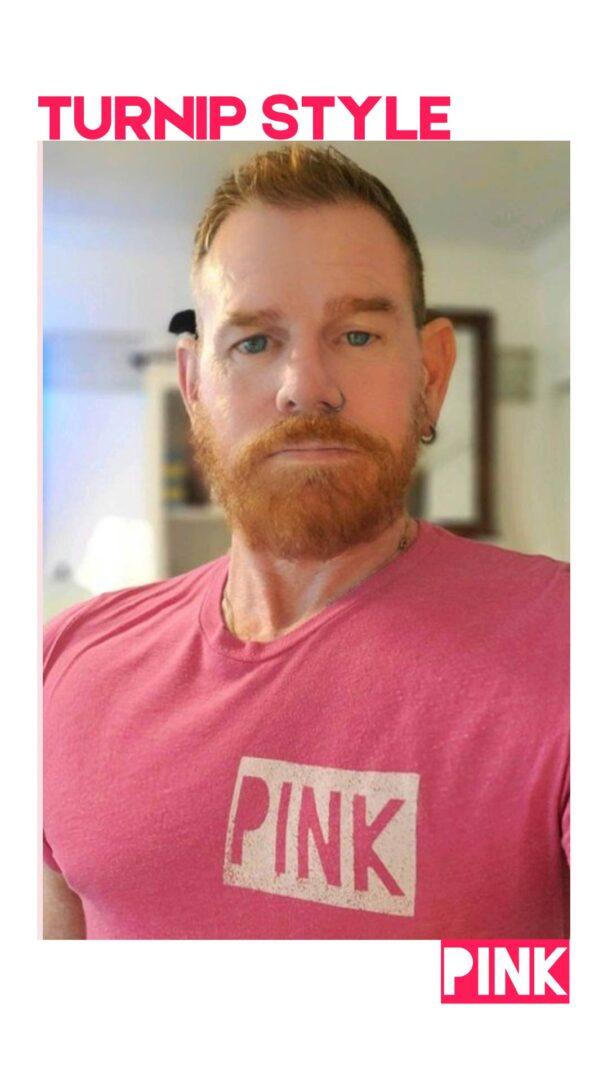 LIAM IN PINK - TURNIPTEEZ.COM