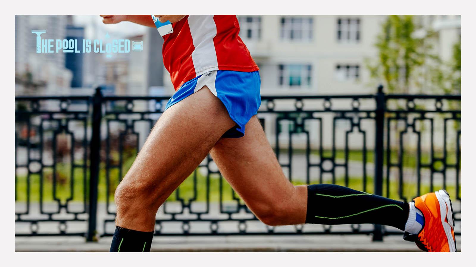 man running a marathon – turnipstyle – thepoolisclosed.com